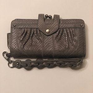 Lockheart Leather Grey Wallet/Wristlet